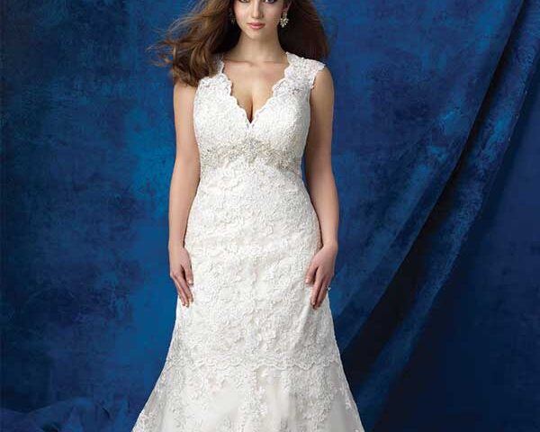 A-line-wedding-dress-for-Apple-body-type