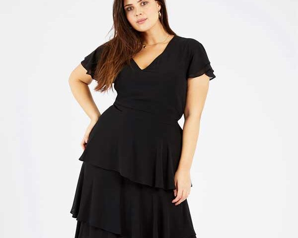 Ruffled-dress-for-plus-size