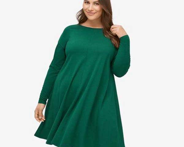 Trapeze-dress-for-plus-size